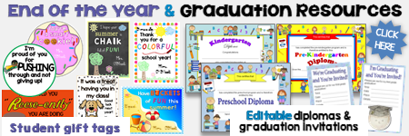 End of the Year, Graduation Resources